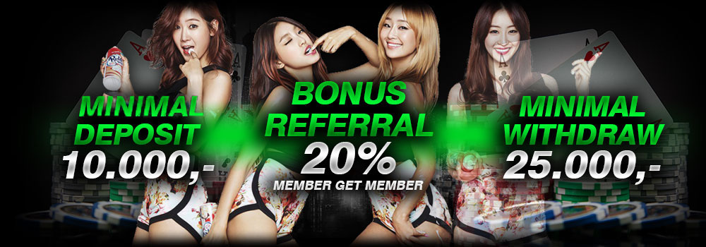 Bonus Deposit,Bonus Referral dan Minimal Withdraw POKERWE1